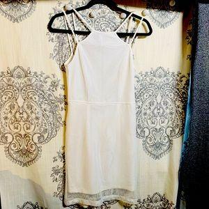 👑 SUPER PRETTY OPEN BACK WHITE MINI DRESS — 8